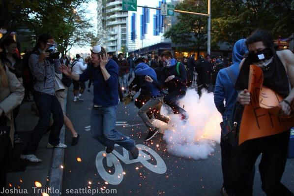 seattle bombs protests