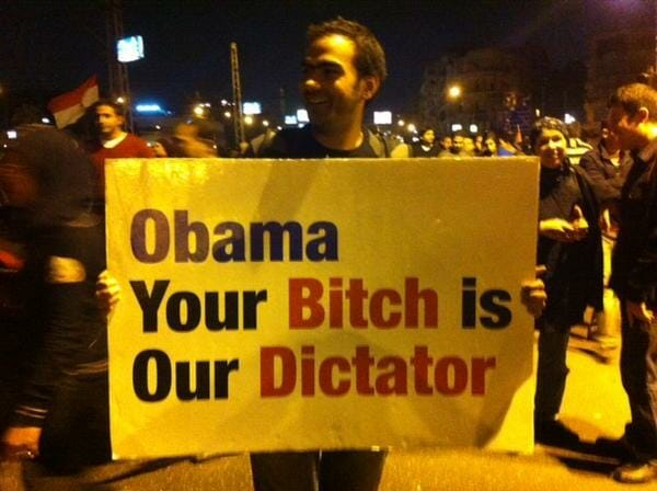 obama bitch protesters