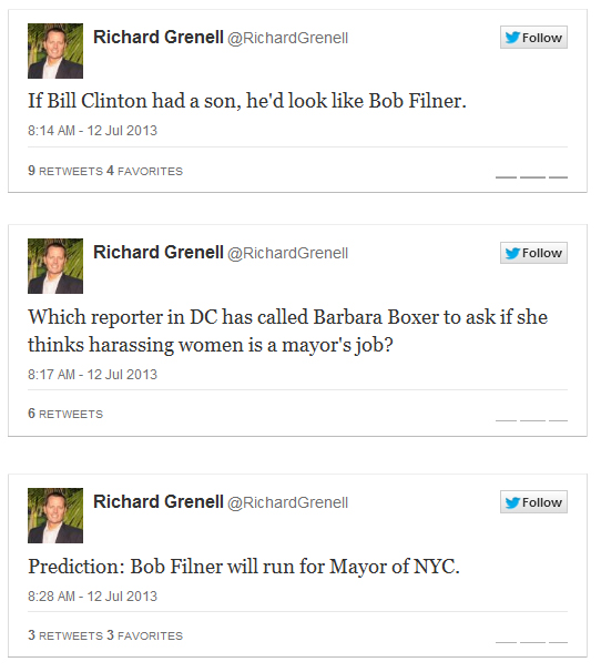 2013-07-12_Richard_Grenell_Tweets_on_Filner