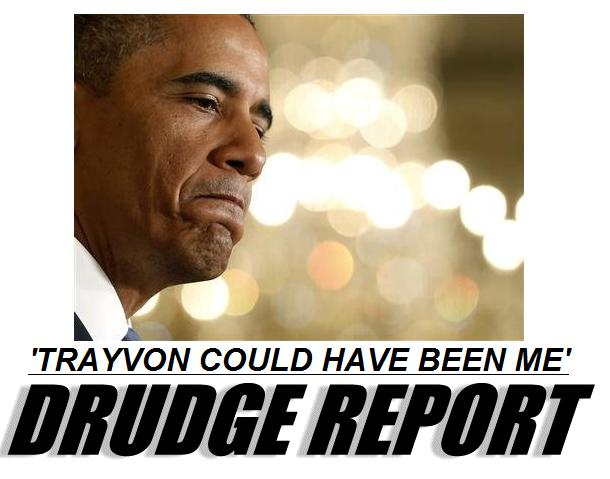 drudge obama trayvon