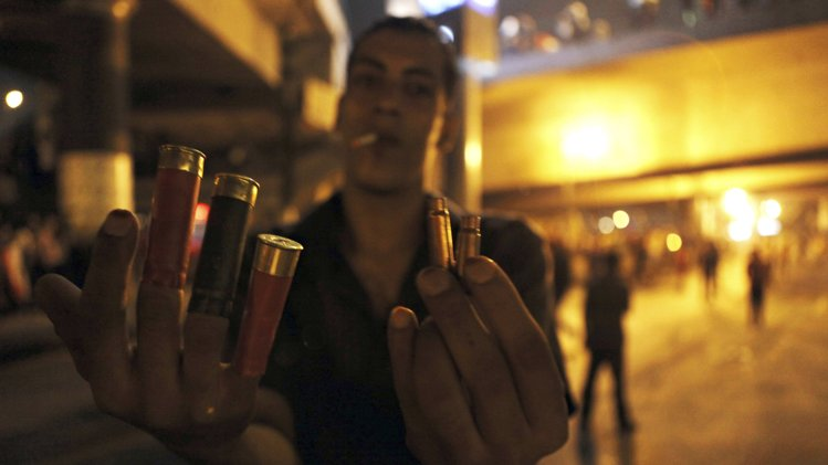 morsi protesters casings