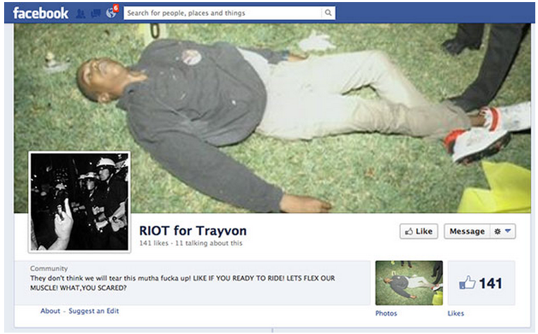 riot for trayvon