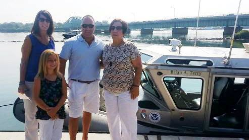 Brian Terry's Family at the dedication of the boat named in his honor.  (Photo from Texas GOP Vote)