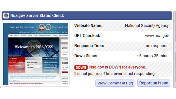 nsa website down