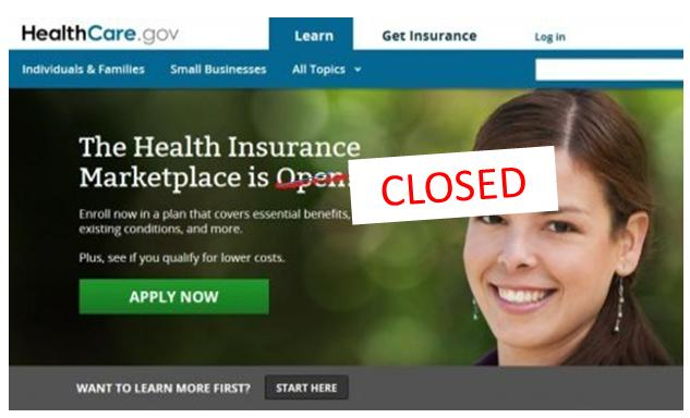 obamacare closed