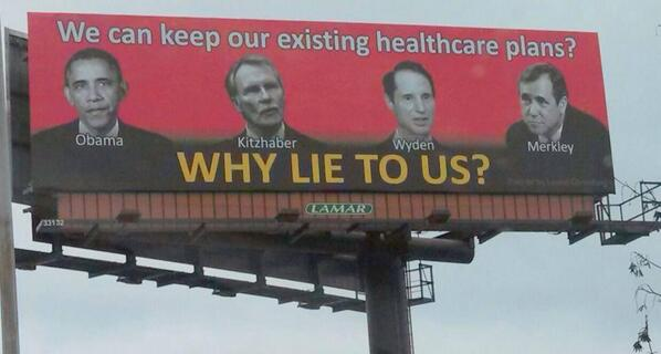 obamacare lie billboard