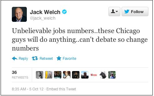 welch tweet unemployment rate