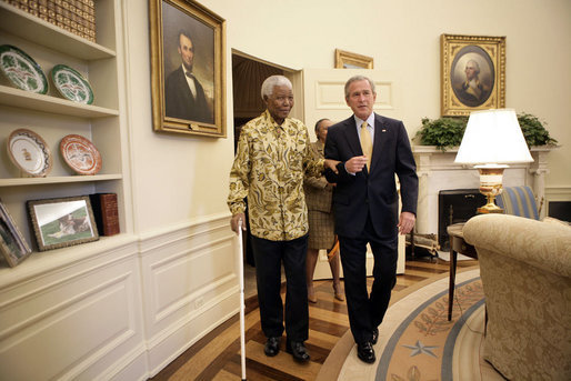 bush mandela white house