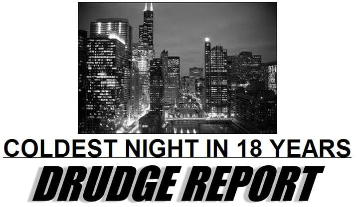coldest night drudge