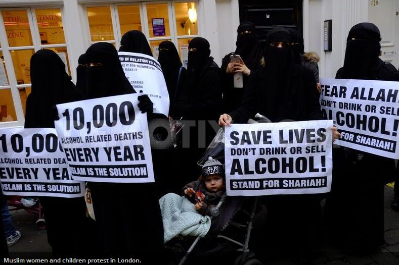 islamists protest london