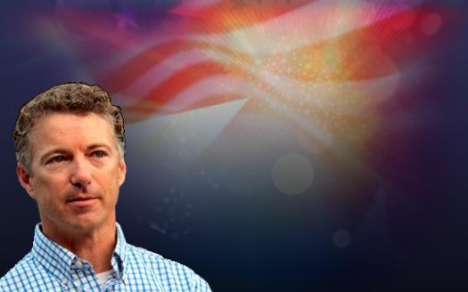 rand paul america flag
