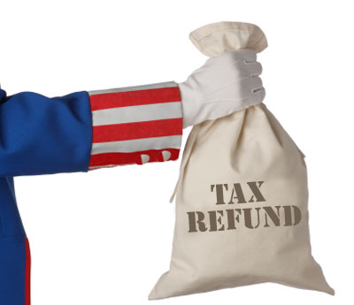 tax refund bag