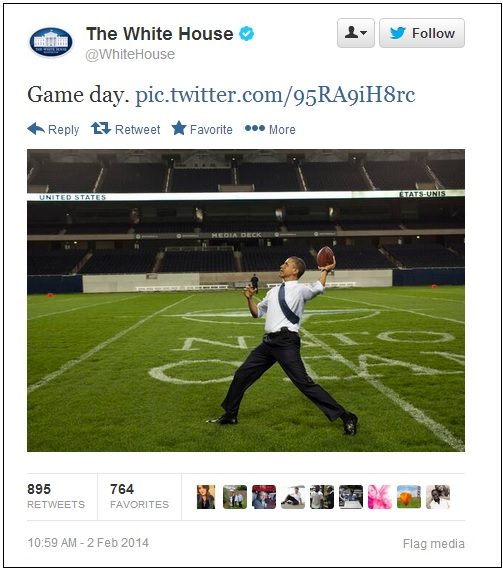 obama super bowl tweet