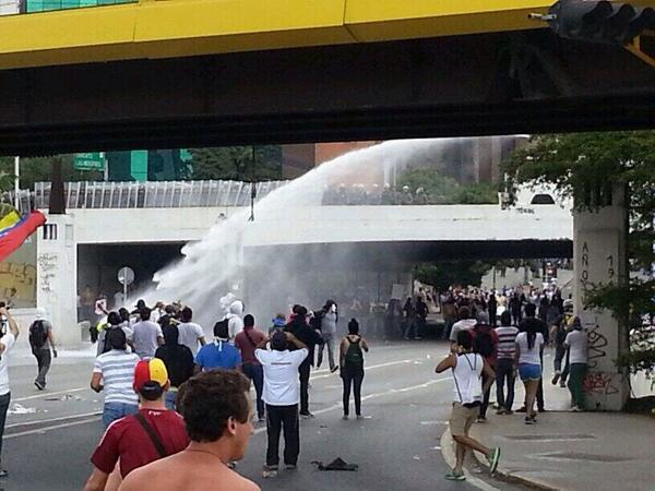 water cannon venezuela