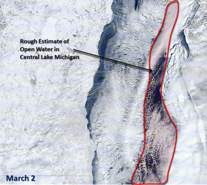 lake michigan ice