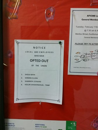 opted out
