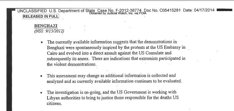 benghazi email wh