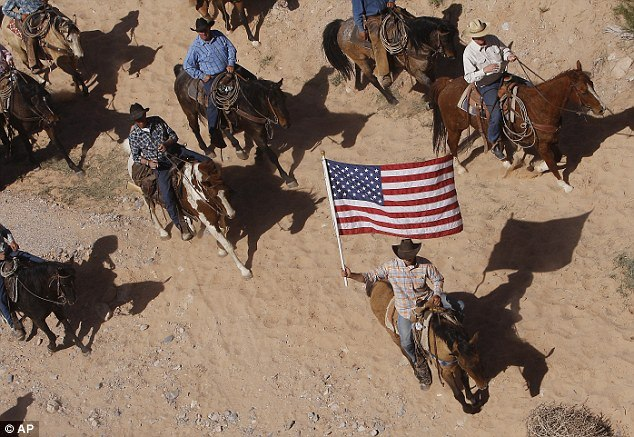 bundy ranch us flag