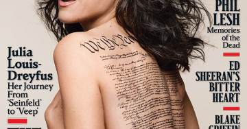 Rolling Stone Slaps John Hancock on Actress's Nude Constitution Shot – But Hancock Signed the Declaration of Independence