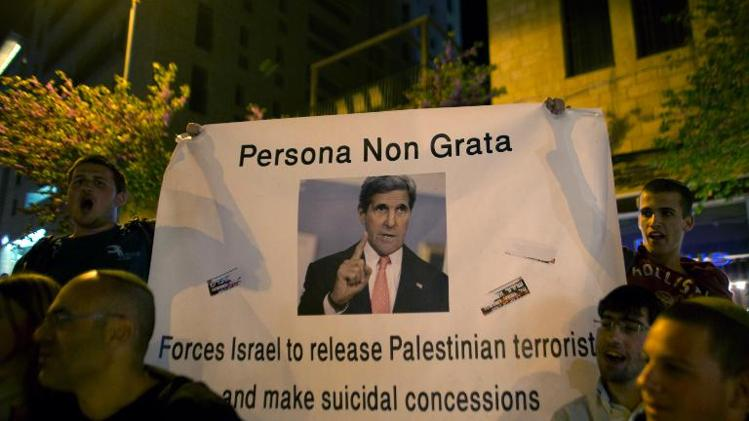 israel kerry protest