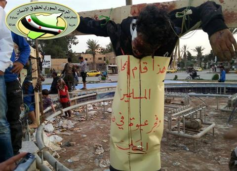 syria crucifix islamists