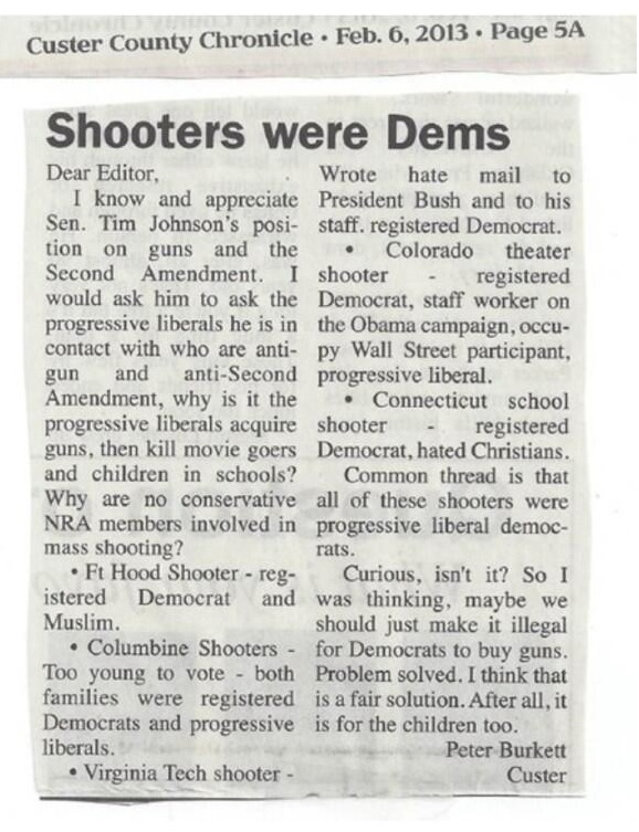 shooters were democrats