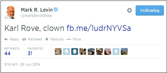 mark levin clown