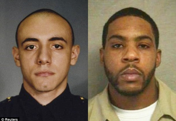 Officer Melvin Santiago (left) and Lawrence Cambell (right)