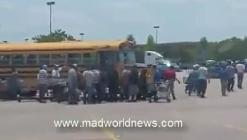 Illegals bused to NC Walmart to buy stuff with Govt-provided EBT cards