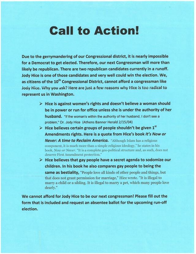 call to action mailer georgia