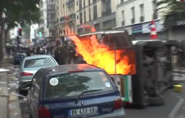 cars torched paris