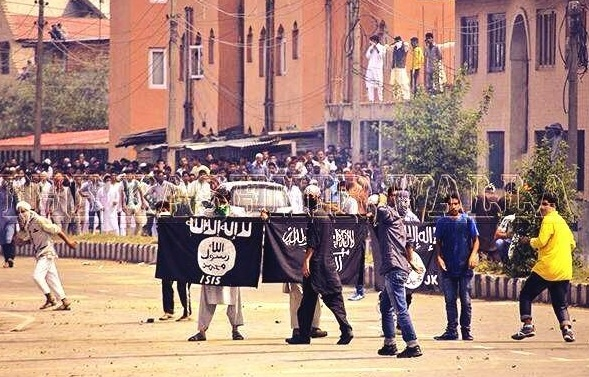 isis kashir protest