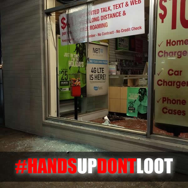 Hands Up Dont Loot