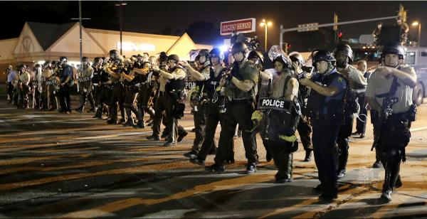 cops in uniform ferguson