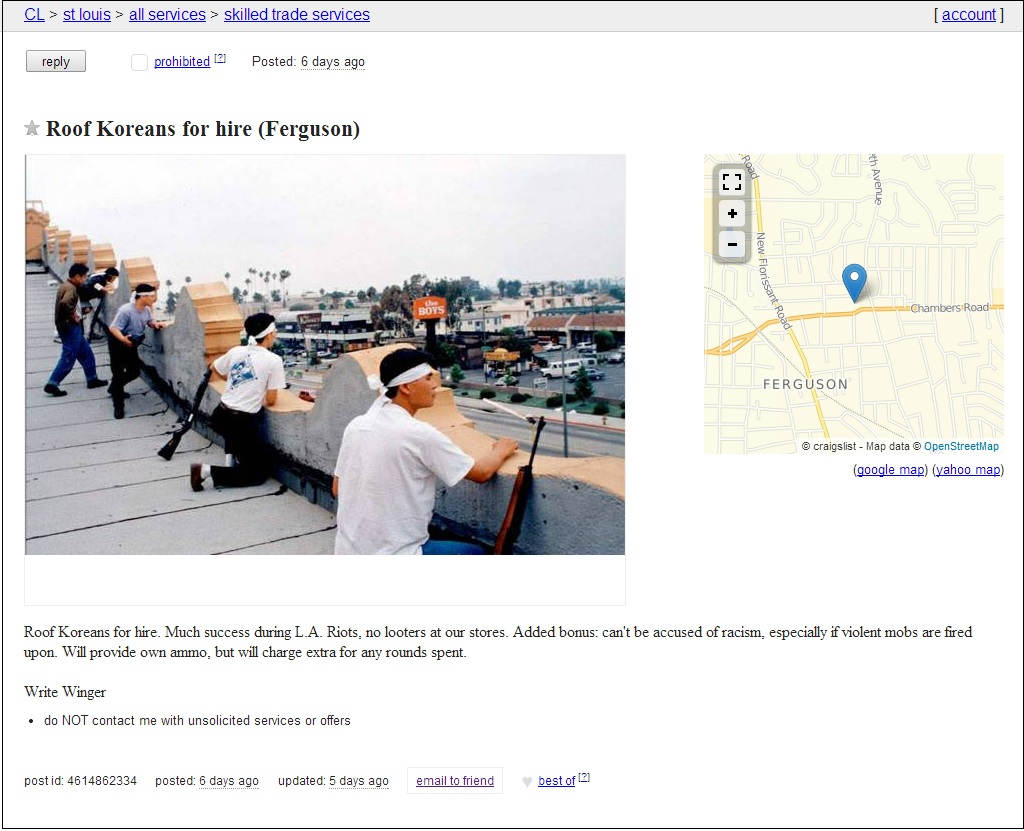 craigs list roof koreans