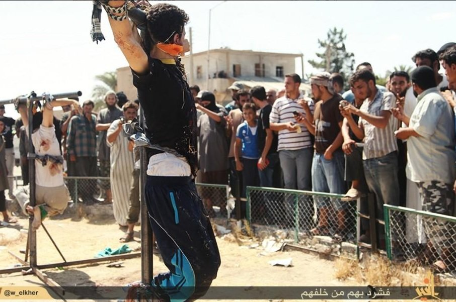 isis crucify youth
