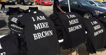 """Not Sure What This Means… T-Shirts for Sale at #Ferguson Rally """"I Am Mike Brown"""""""