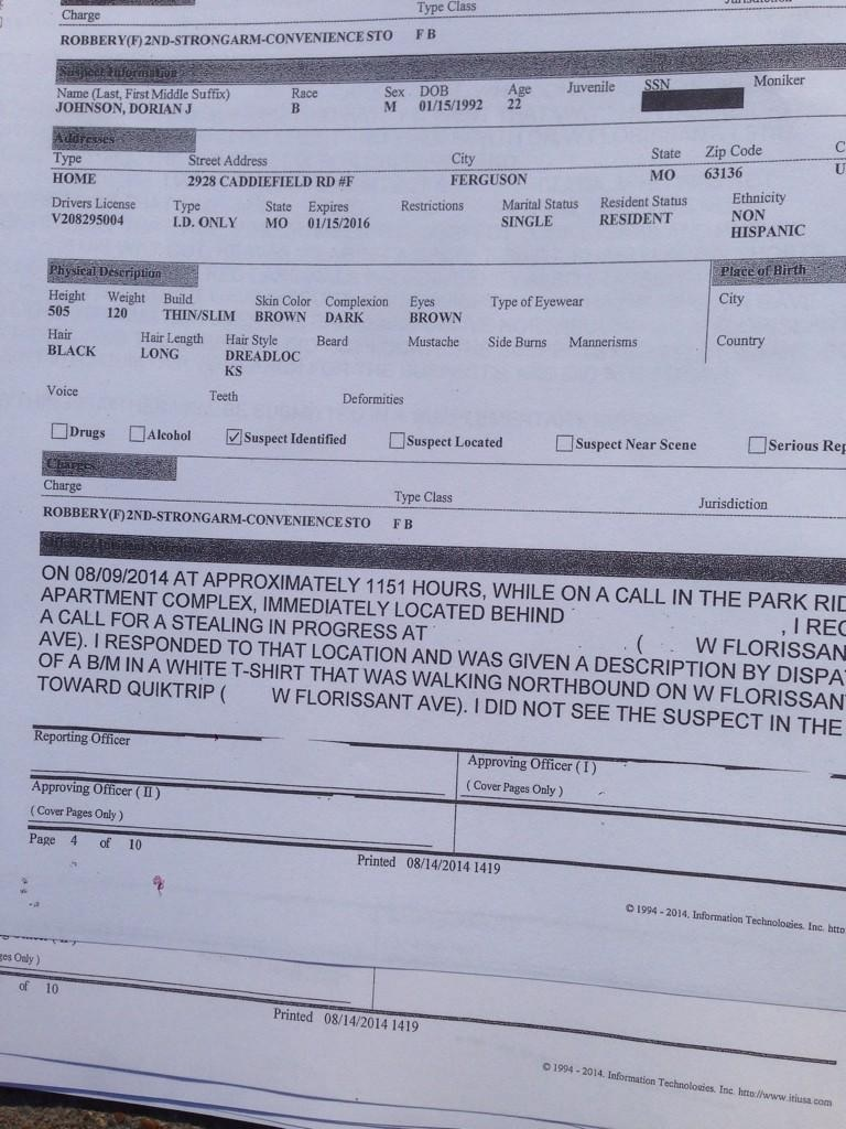 police report robbery