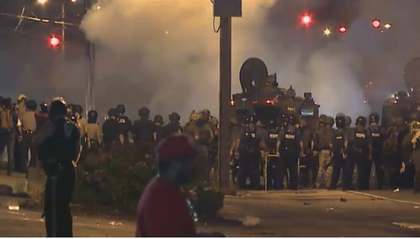 tear gas ferguson