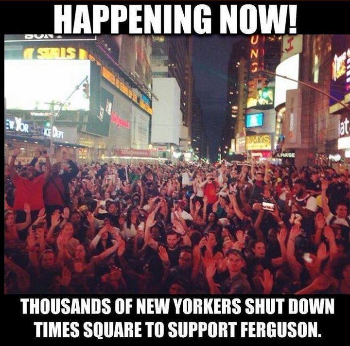times square protests