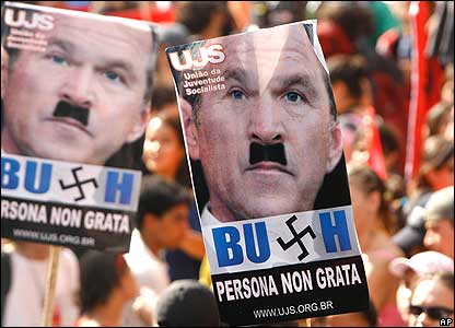bush hitler signs