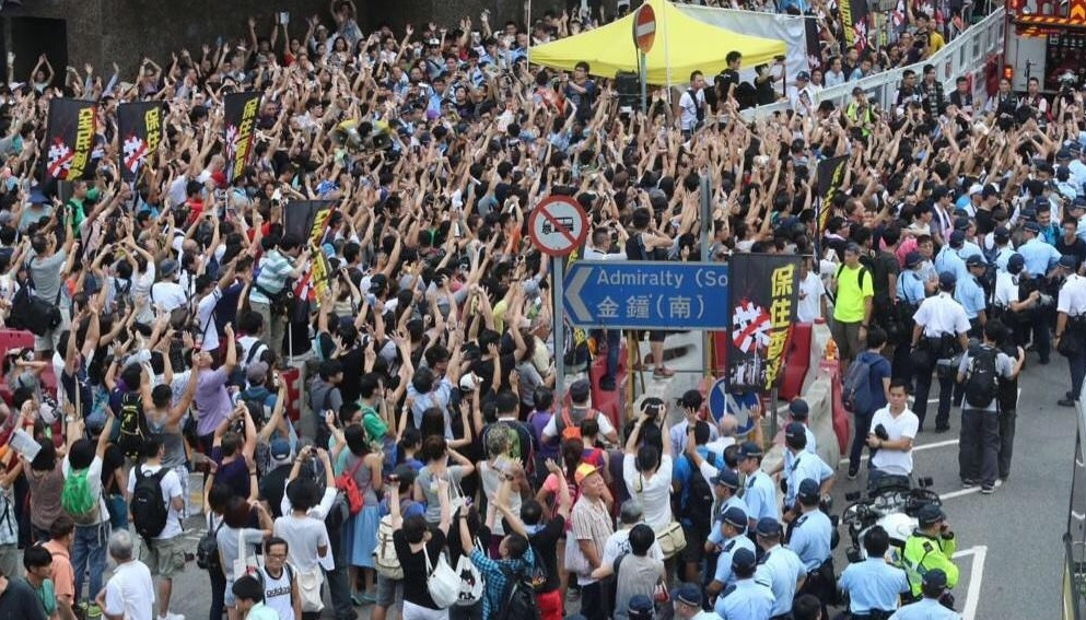 hong kong hands up don't shoot