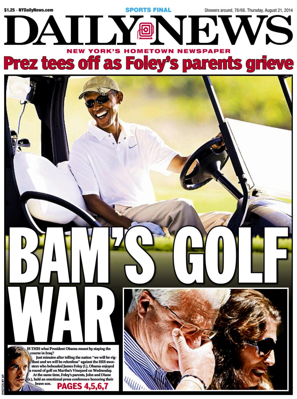 obama tees off golf