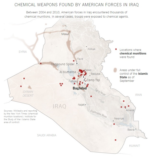 iraq chemical weapons map