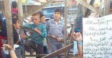 ISIS Beheads & Crucifies Man for Encouraging Son to Join Gov. Police