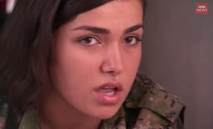 kurdish fighter female