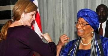 """Amb. Power Says Ebola Has """"No Greater Friend Than Fear"""" …(But Won't Shake Hands With African Leader)"""