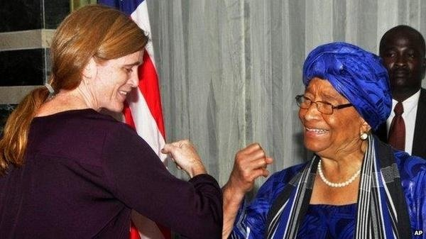 "Amb. Power Says Ebola Has ""No Greater Friend Than Fear"" …(But Won't Shake Hands With African Leader)"