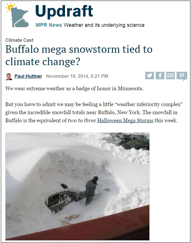 global warming buffalo