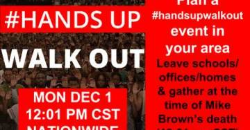 #Ferguson Protesters Plan 'Hands Up, Walk Out' Boycott for Monday